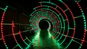 Pixel mapping on Light Tunnel at Waddesdon Manor